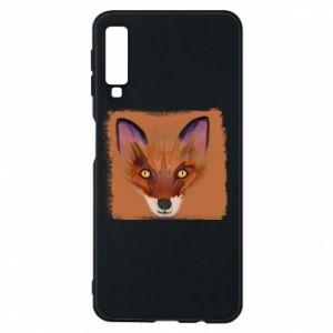 Etui na Samsung A7 2018 Fox on an orange background