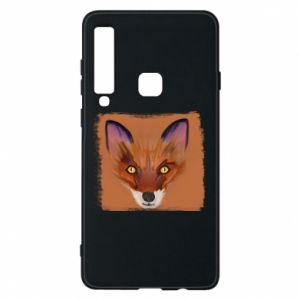 Etui na Samsung A9 2018 Fox on an orange background