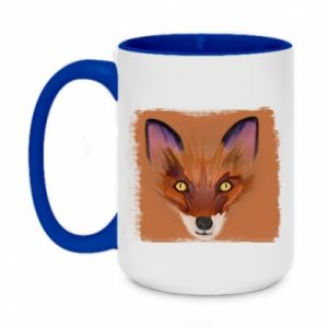 Kubek dwukolorowy 450ml Fox on an orange background