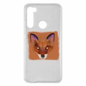 Etui na Xiaomi Redmi Note 8 Fox on an orange background
