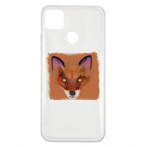 Xiaomi Redmi 9c Case Fox on an orange background