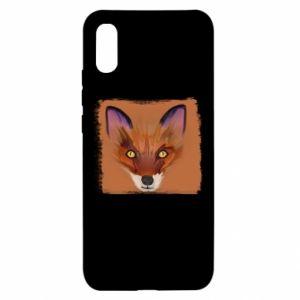 Etui na Xiaomi Redmi 9a Fox on an orange background
