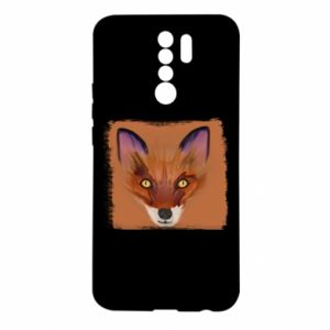 Etui na Xiaomi Redmi 9 Fox on an orange background