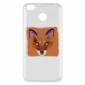 Etui na Xiaomi Redmi 4X Fox on an orange background