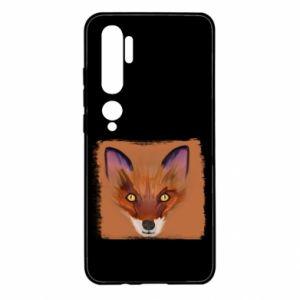 Etui na Xiaomi Mi Note 10 Fox on an orange background