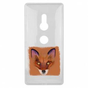 Etui na Sony Xperia XZ2 Fox on an orange background