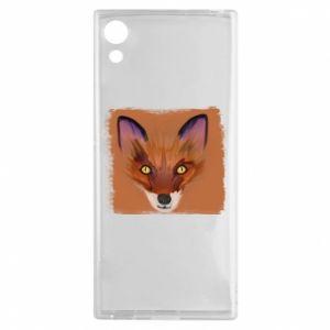 Etui na Sony Xperia XA1 Fox on an orange background