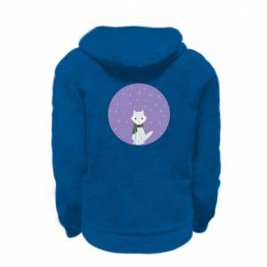 Kid's zipped hoodie % print% Fox