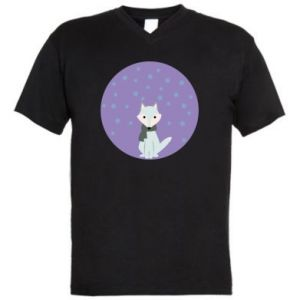 Men's V-neck t-shirt Fox