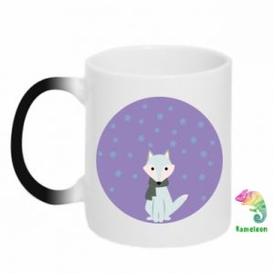 Chameleon mugs Fox