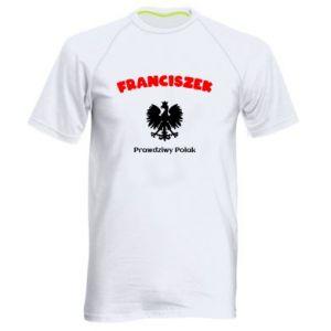 Męska koszulka sportowa Franciszek jest prawdziwym Polakiem