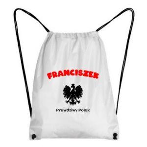 Plecak-worek Franciszek jest prawdziwym Polakiem