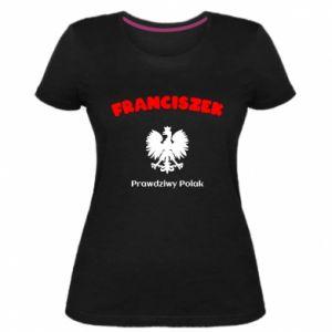Damska premium koszulka Franciszek jest prawdziwym Polakiem