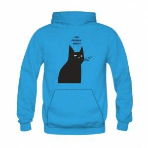 Bluza z kapturem dziecięca Freakin' meowt