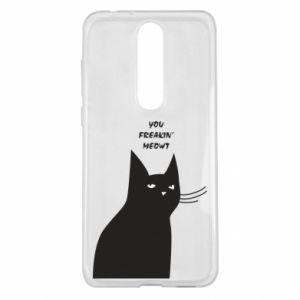 Etui na Nokia 5.1 Plus Freakin' meowt