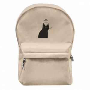 Backpack with front pocket Freakin' meowt