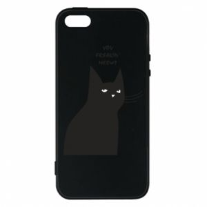 Phone case for iPhone 5/5S/SE Freakin' meowt