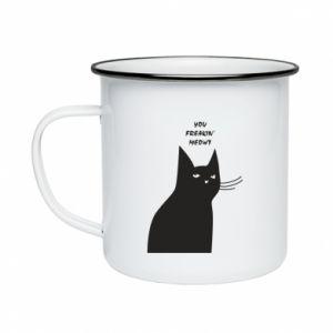 Enameled mug Freakin' meowt