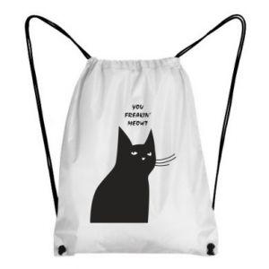 Plecak-worek Freakin' meowt
