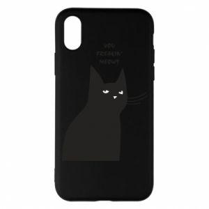 Phone case for iPhone X/Xs Freakin' meowt