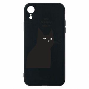 Phone case for iPhone XR Freakin' meowt