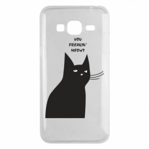Phone case for Samsung J3 2016 Freakin' meowt