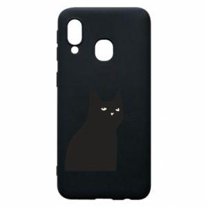 Phone case for Samsung A40 Freakin' meowt