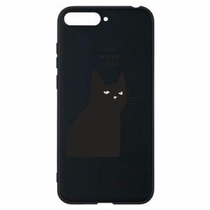 Phone case for Huawei Y6 2018 Freakin' meowt
