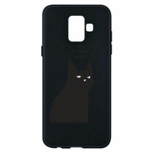 Phone case for Samsung A6 2018 Freakin' meowt