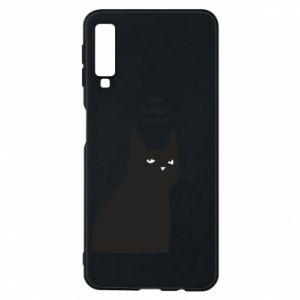 Phone case for Samsung A7 2018 Freakin' meowt