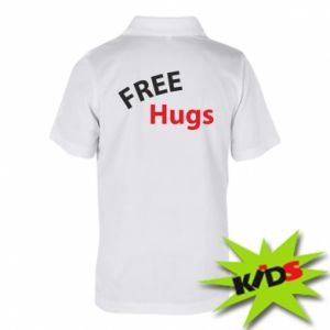 Children's Polo shirts Free Hugs