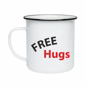 Enameled mug Free Hugs