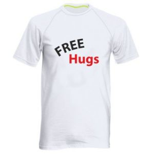 Men's sports t-shirt Free Hugs