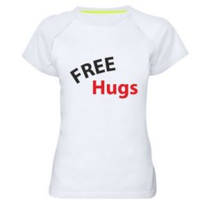 Women's sports t-shirt Free Hugs