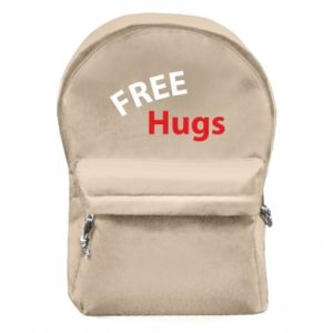 Backpack with front pocket Free Hugs