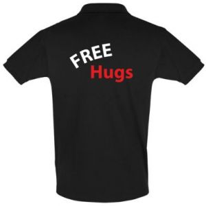 Men's Polo shirt Free Hugs