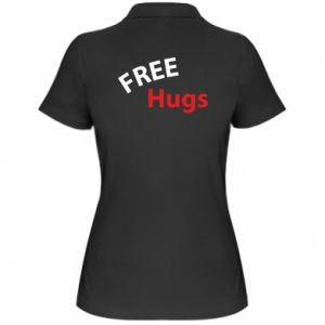 Women's Polo shirt Free Hugs