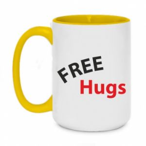 Two-toned mug 450ml Free Hugs