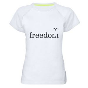 Women's sports t-shirt Freedom