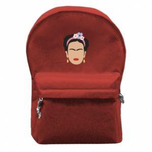 Backpack with front pocket Frida Kahlo - PrintSalon