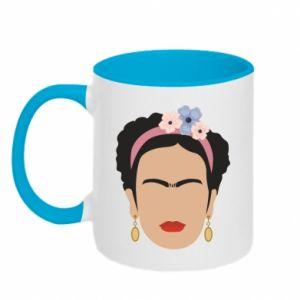 Two-toned mug Frida Kahlo - PrintSalon