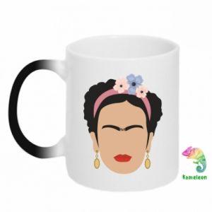 Chameleon mugs Frida Kahlo - PrintSalon