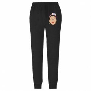 Męskie spodnie lekkie Frida Kahlo - PrintSalon