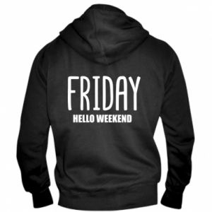 Męska bluza z kapturem na zamek Friday. Hello weekend
