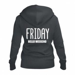 Damska bluza na zamek Friday. Hello weekend
