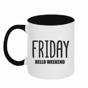 Kubek dwukolorowy Friday. Hello weekend