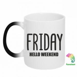 Kubek-kameleon Friday. Hello weekend