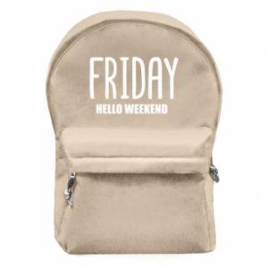 Plecak z przednią kieszenią Friday. Hello weekend