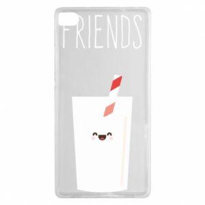 Etui na Huawei P8 Friend milk