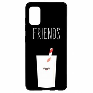 Etui na Samsung A41 Friend milk